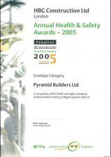 HBG H&S Award 2005