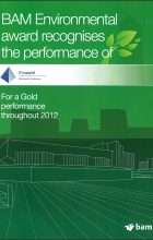 BAM Gold Award for Environmental 2012
