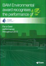 BAM Gold Award for Environmental 2012