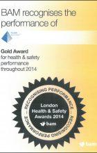 BAM Gold Award for H&S 2014