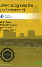 BAM Gold Award for H&S 2012