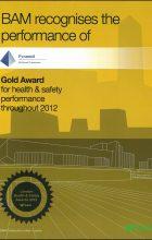 BAM Gold Award for H&S 2012