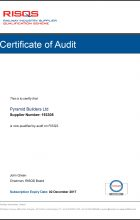 Achilles RISQS Certificate of Audit