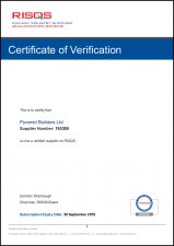 Achilles RISQS Certificate of Verification