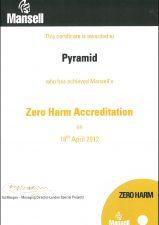 Mansell Zero Harm Accreditation 2012
